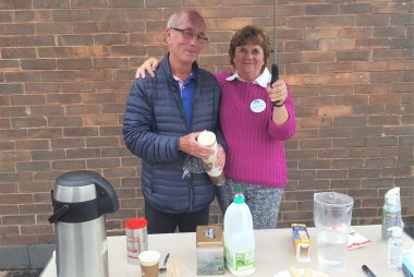 Outdoor coffee mornings every Friday